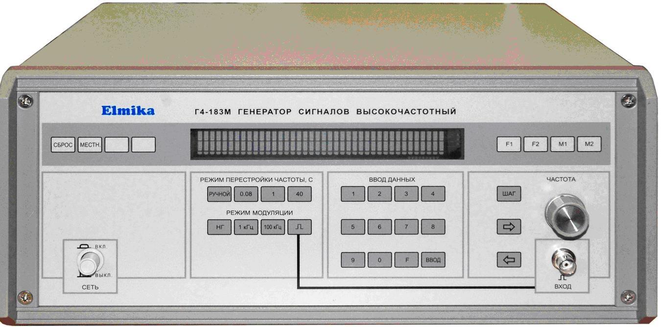 Генератор сигналов Г4-186М  диапазон частот 53.57 - 78.33 ГГц