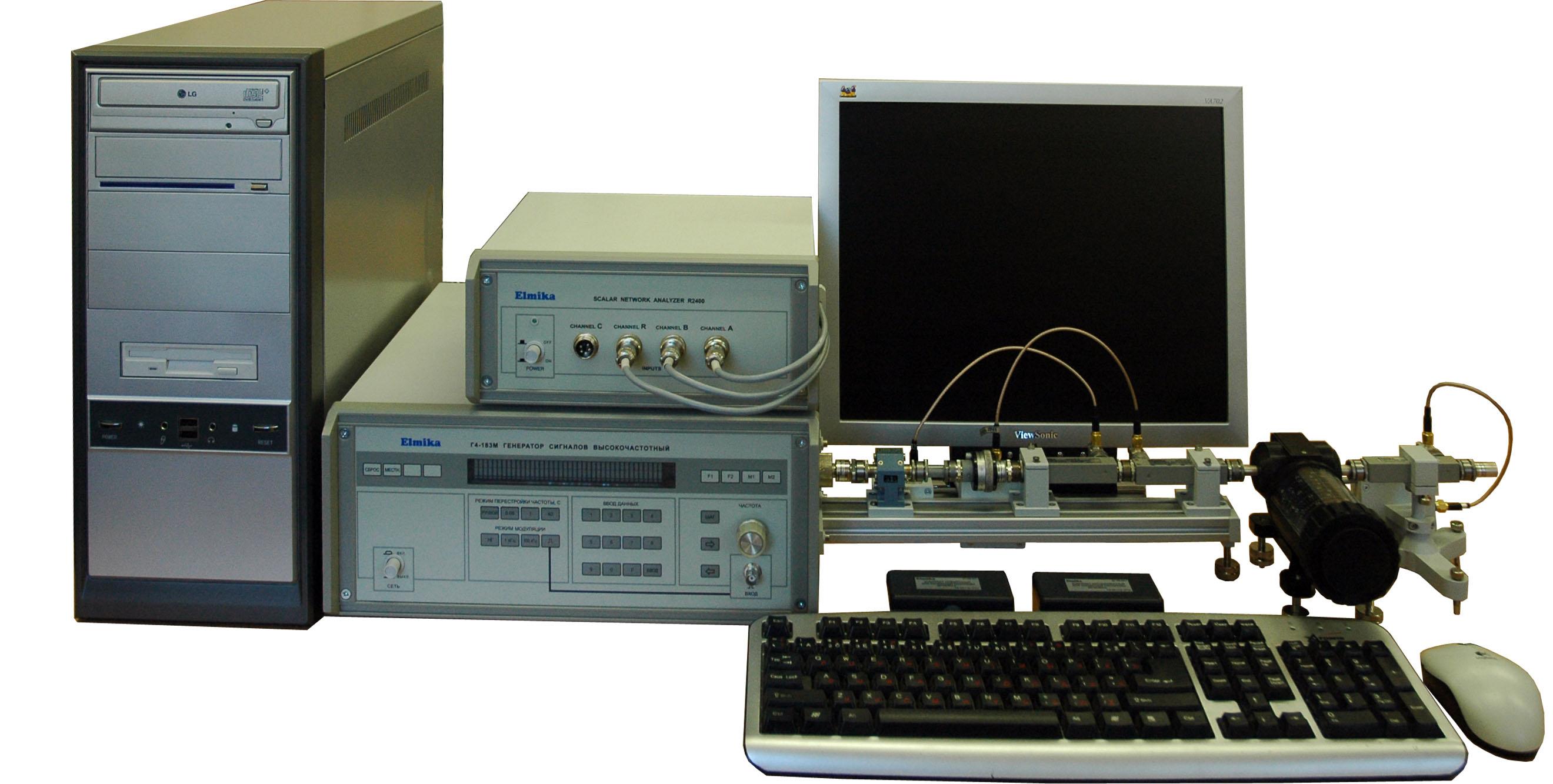 Панорамный измеритель КСВН и ослабления Р2-124М диапазон частот 78.33 - 118.1 ГГц