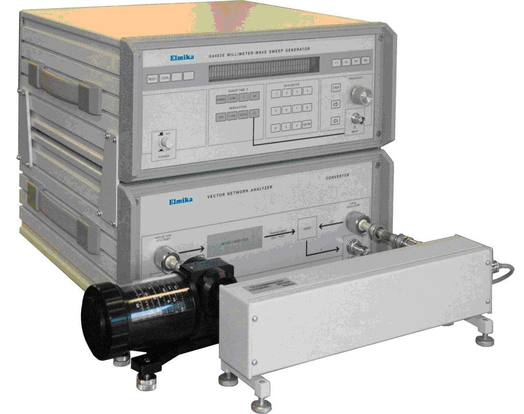 Измеритель комплексных коэффициентов отражения и передачи Р4-104 диапазон частот 53.57 - 78.33 ГГц